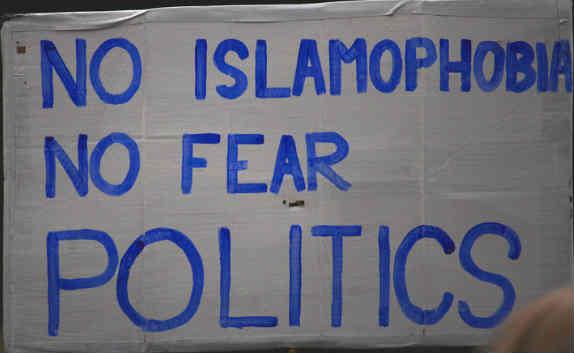 Sign Reading No Islamophobia No Fear Politics
